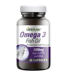 Lifeplan Omega 3 Fish Oil 1000mg 30kaps