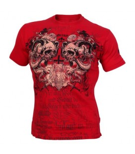 Olimp Men's Tee SCREAMING SKULLS red L
