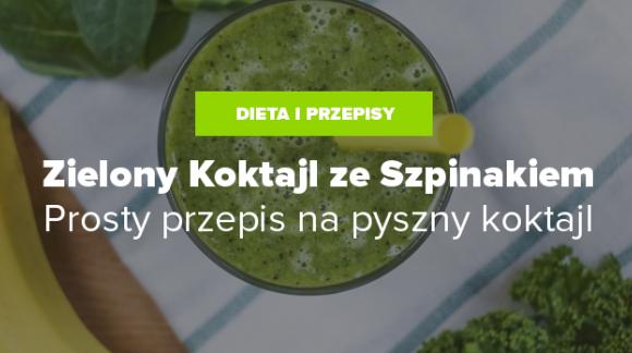 Zielony koktajl ze szpinakiem - przepis